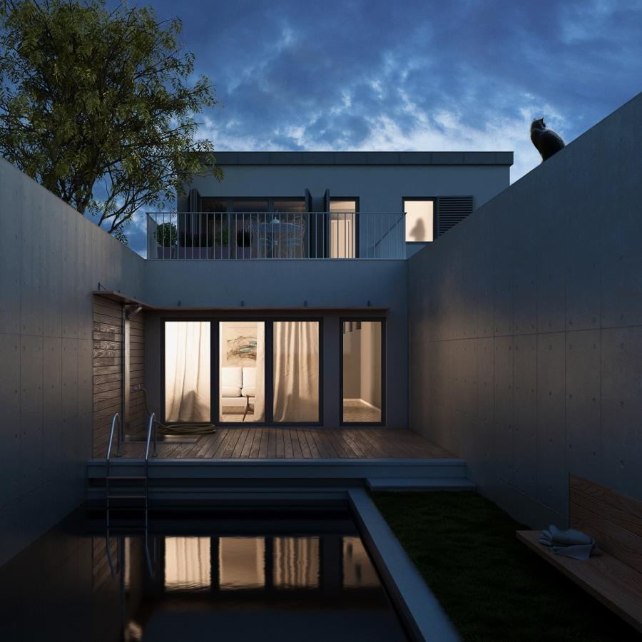 ArchViz 3D - Casa con giardino