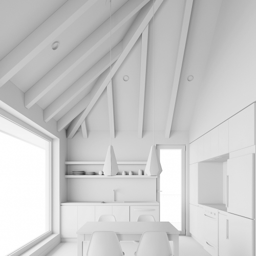 ArchViz 3D - Poisson Blanc Chalet