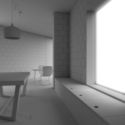 Archviz 3D - Interni - Living 2