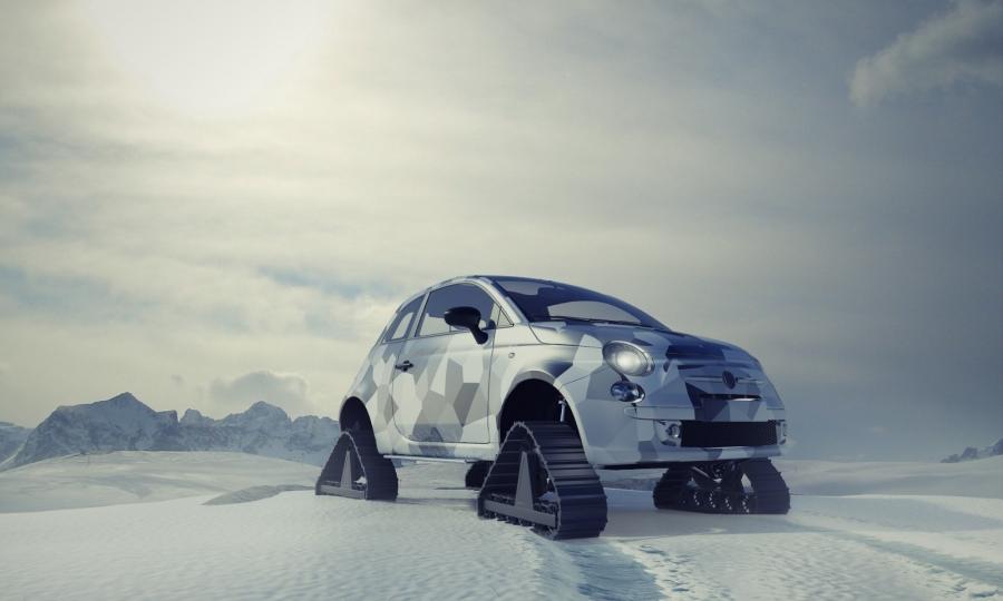 Fiat 500 . SNOWRIDER