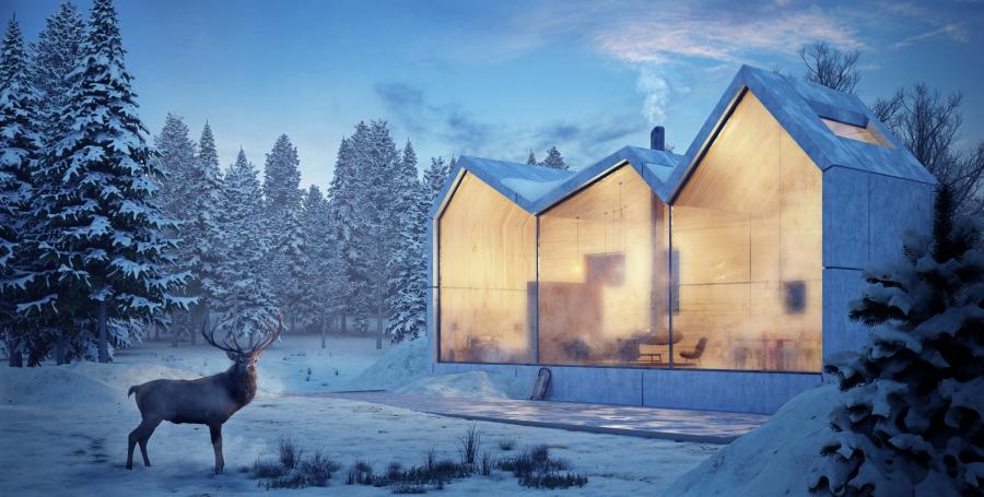 Winter Lodge .