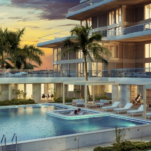Condominium-Pool area (Gran Cayman)