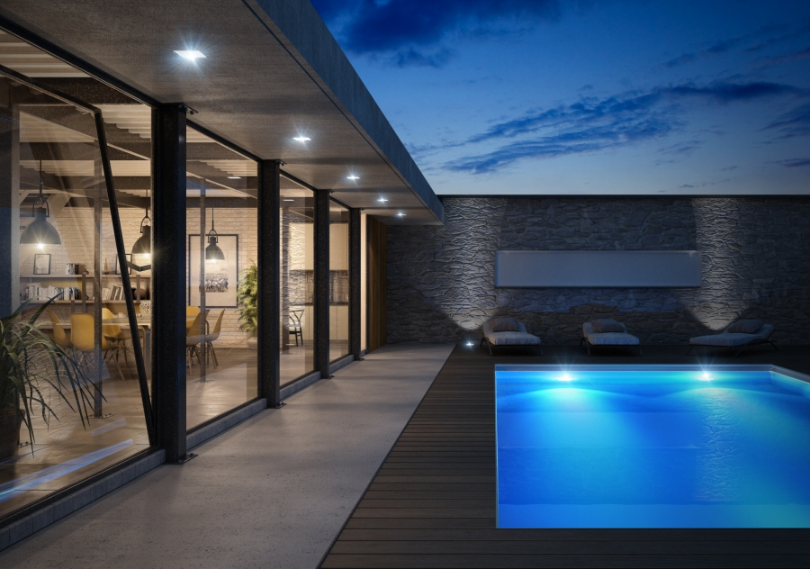 Swimming pool house