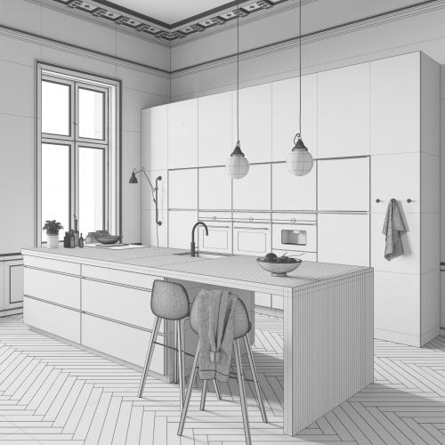 White Kitchen by Kvik