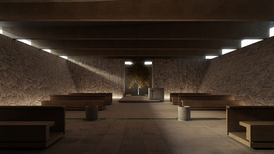 The Shadow of the Day - Chapel in Rwanda designed by Studio Uno a uno architecture, Mariasole Durante, Mario Pedron and Marco Fosella.