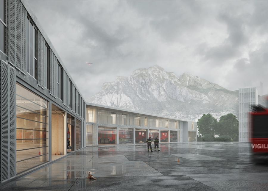 [Shortlisted project]  We could be heroes - New Fire Station in Lecco | Studio Cangemi + Archh. Antonio Alessandro, Salvatore La Puma, Anna Maria La Sala,  Giuseppe Mineo