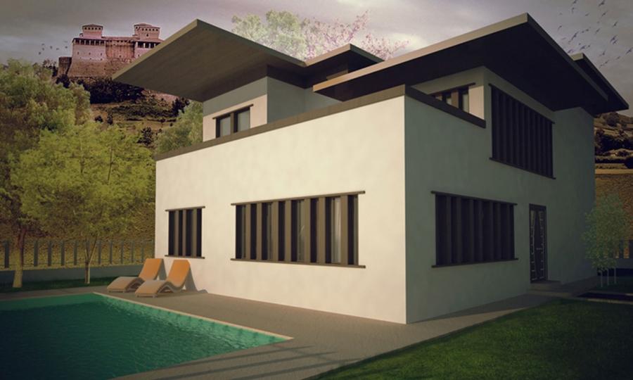 house in torrechiara - universitary project