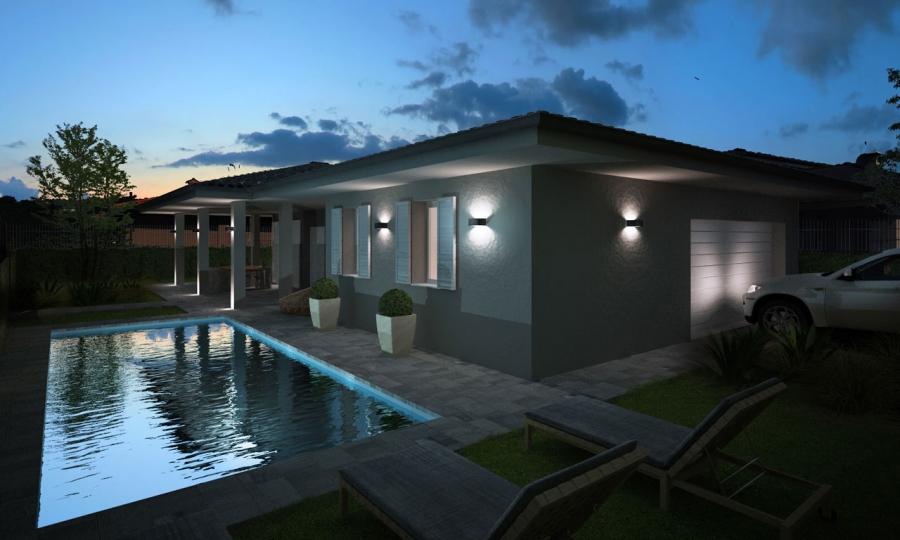 pool house - render