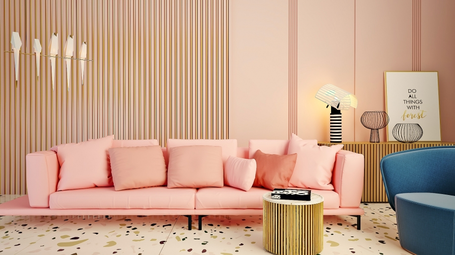 Gold&Pink composition