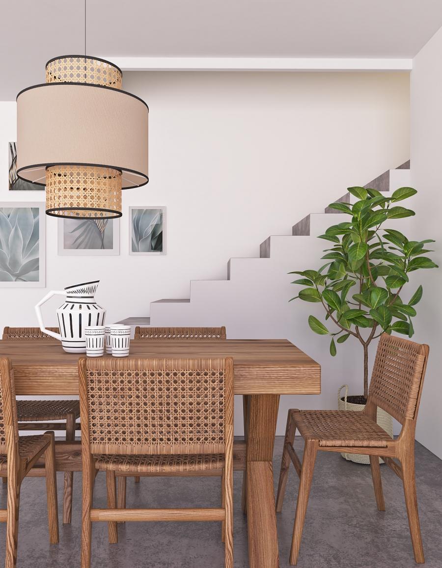 Diningroom rattan style